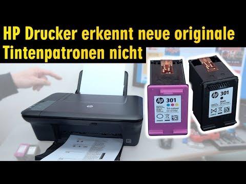 Hewlett-Packard Drucker originale neue Tintenpatronen werden nicht erkannt nach Wechseln - [4K]