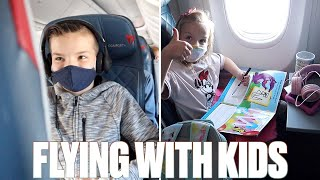 FLYING ON AN AIRPLANE FOR FOUR HOURS WITH FIVE KIDS TO WALT DISNEY WORLD FOR THE FIRST TIME IN 2021