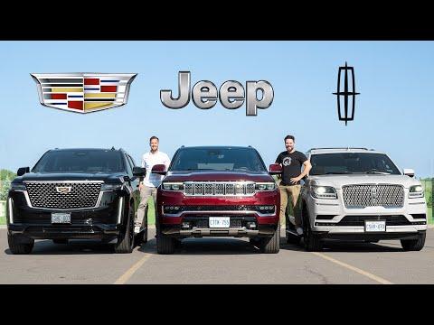 2022 Jeep Grand Wagoneer vs Cadillac Escalade vs Lincoln Navigator // CIVIL WAR