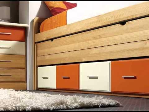 dormitorios infantiles con camas armarios y cajones