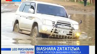 Biashara zatatizwa Kitengela kutokana na mvua