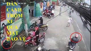 Dàn cảnh trộm cắp xe máy cổng trường mầm non có bảo vệ | trộm xe máy 2018