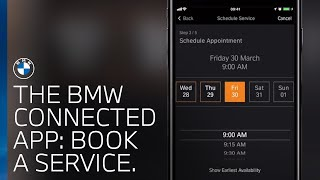 How to book a service using the BMW Connected app.