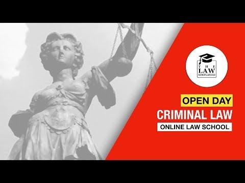 OPEN DAY | Criminal Law - Online Law School