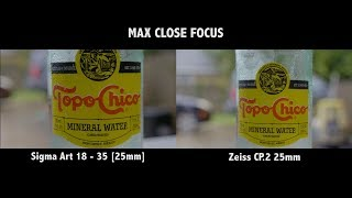 Photo Zoom Lens Vs Cine Prime - Sigma Art 18-35 and Zeiss CP.2 | Drew(ing) A Blank