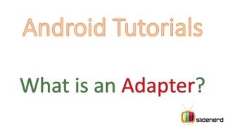 #71 Android Tutorial For Beginners: What is Android Adapter?