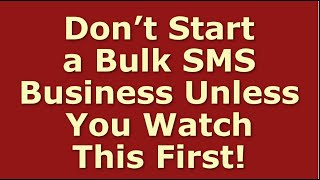 How to Start a Bulk SMS Business   Including Free Bulk SMS Business Plan Template