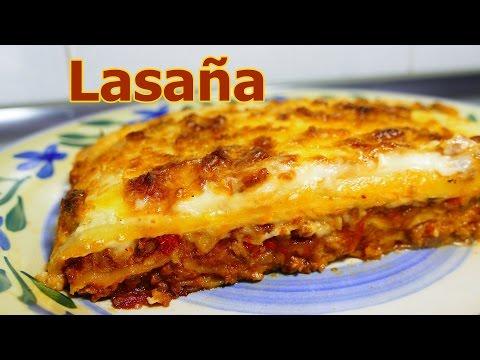 receta LASAÑA DE CARNE MOLIDA Y QUESO | recetas de cocina faciles rapidas y economicas | comidas