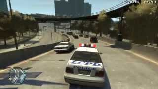 GTA IV LCPDFR - HUGE Shootout + Large Citywide Car Chase