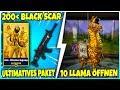 😱 Ich KAUFE das 200€ Rette die Welt Paket! 🌵 Black Scar, 10 TrollSchatz LLAMA Opening - Fortnite