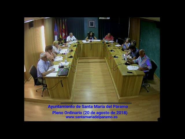 Pleno Ordinario (20 de agosto de 2018)