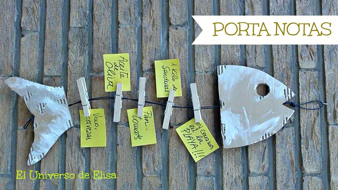 Manualidades para el Día del Padre, Regalos para el Día del Padre, Cómo hacer un Porta Notas,