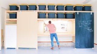 DIY Garage Storage / Shelves Part 2 | DIY Barn Doors