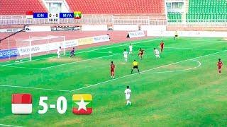 Indonesia 5 - 0 Myanmar | AFF U18 CHAMPIONSHIP 2019 FULL HD | 3/4 PLACE | 19/08/2019