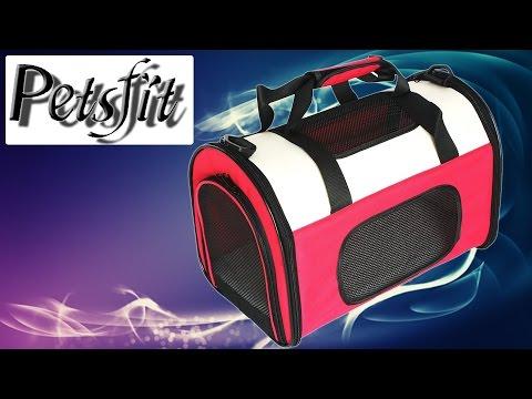Hardware - Petsfit Stoff Faltbarer Haustiertragetasche für Hunde und Katzen, Rot