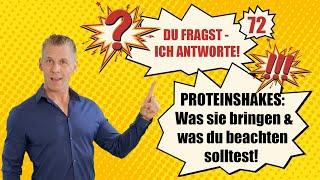 Proteinshakes: Was sie bringen & was du beachten solltest! DU FRAGST, ICH ANTWORTE! - Nr. 72