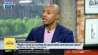 "ESPN GET UP | Jay Williams REACT to ""Magic's tired act hurting his good name and beloved Lakers"""