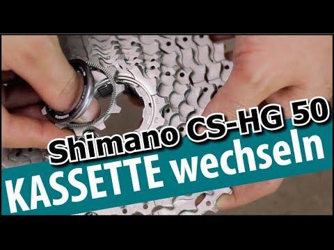 Shimano Kassette wechseln - CS-HG50 8-10 fach