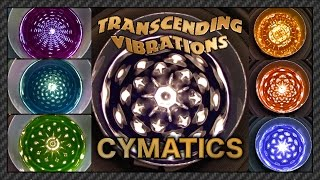 Cymatics: Sacred Geometry of Frequency (Study #1) [Water W/Food Coloring 60 fps]