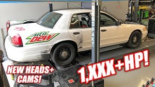 Our Retired Cop Car Made 1,000 HORSEPOWER!!! (Boost and Nitrous GT500!)