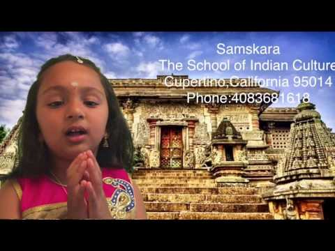 My students reciting Shlokas