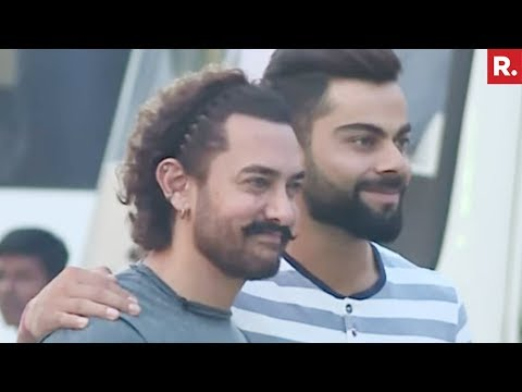 Aamir Khan, Virat Kohli Shoot For Diwali Special Chat Show