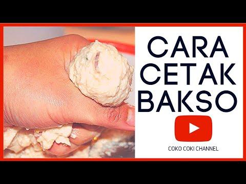 Video Cara Cepat Cetak Bakso dengan Tangan