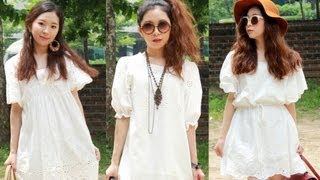 3 Different Summer White Dress Styling