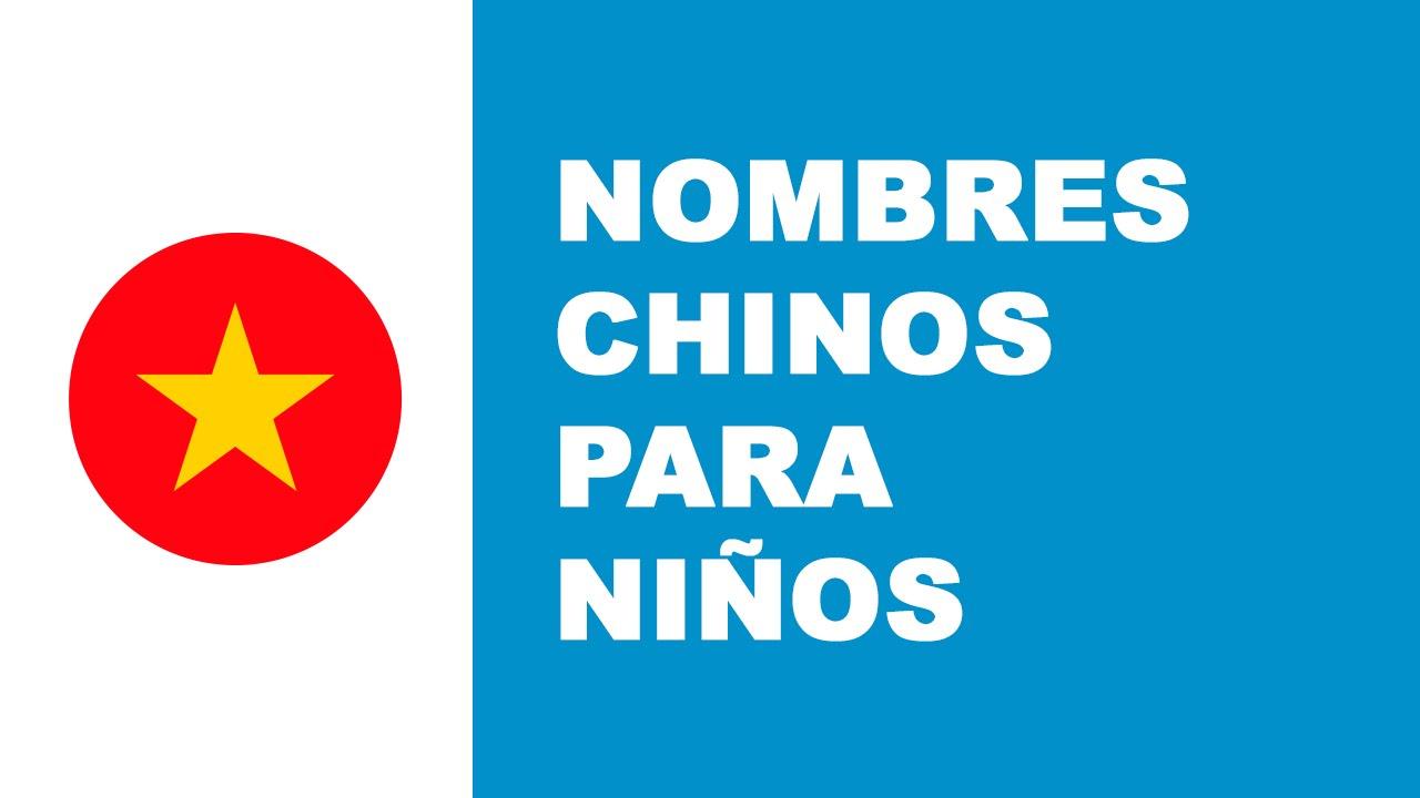 Nombres chinos para niños