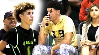Lavar Told Melo Stop Being STUPID! LaMelo Drops 45 w/ 39 Shots VS College Bound Athletes!