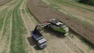 Zemědělská technika - sestřih roku 2017 z dronu