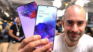 Samsung Galaxy S20 and Samsung Galaxy S20+ Hands-On - 25 New Features vs S10 & S10 Plus