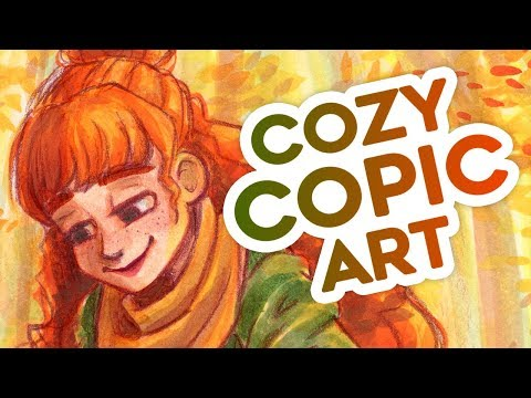 Cozy Copic Art - At Peace