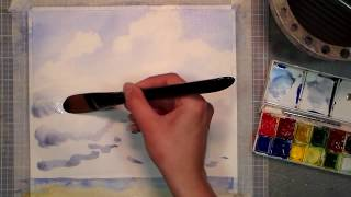 How to Paint Cumulus Clouds in Watercolor