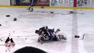 Brawl in Warmups Laval vs St George LNAH January 11 2015