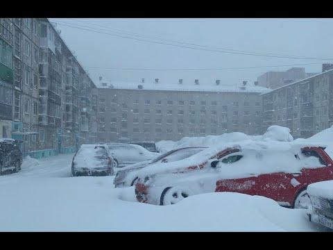 Майские снегопады и метели в Воркуте #Vorkuta #snowfall #blizzard