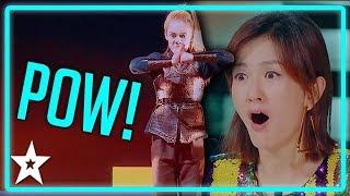 Kid Warrior Goes All KUNG FU on Worlds Got Talent 2019 | Kids Got Talent