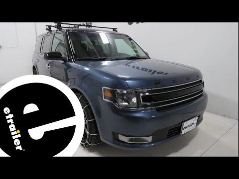 etrailer | Titan Chain Cable Tire Chains Review - 2018 Ford Flex
