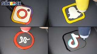 Gambar cover Social Media & Popular Apps Pancake art - Instargram, Snapchat, Tik Tok, Musical.ly, WhatsApp