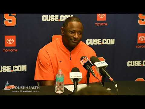Dino Babers postgame news conference after Syracuse football at Duke (2019)