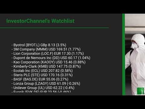 InvestorChannel's Disinfection Watchlist Update for Wednesday, September 16, 2020, 16:30 EST