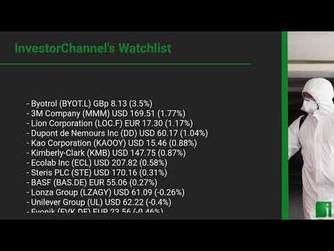 InvestorChannel's Disinfection Watchlist Update for Wednesday, September 16, 2020, 16:30 EST