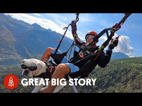 People in This Swiss Village Paraglide to Work