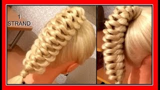 ONE STRAND KNOT BRAID HAIRSTYLE / HairGlamour Styles /  Braids Hair Tutorial