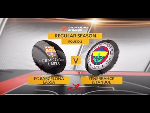EuroLeague Highlights RS Round 2: FC Barcelona Lassa 72-73 Fenerbahce Istanbul