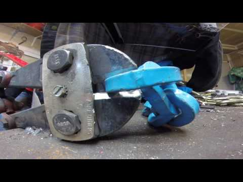 Peweg 1/2 inch Grade 120 BLUE chain Bolt Cutter Test