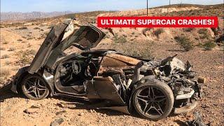 CRASHED SUPERCARS MEGA COMPILATION! *DESTROYED*