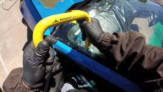 ford mustang 2013  4.0 remplaso de parabrisas (windshield replacement)