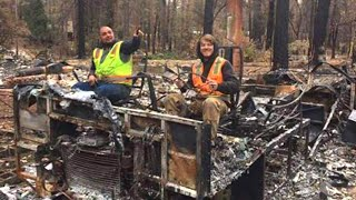 California Camp Fire Cleanup Crew in Trouble for Offensive Photos