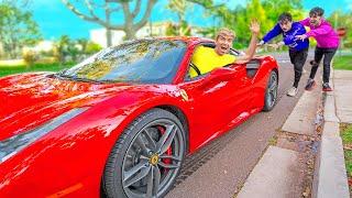 We Stole Lucas and Marcus Ferrari!! (Revenge for Broken Lamborghini Sharerghini)